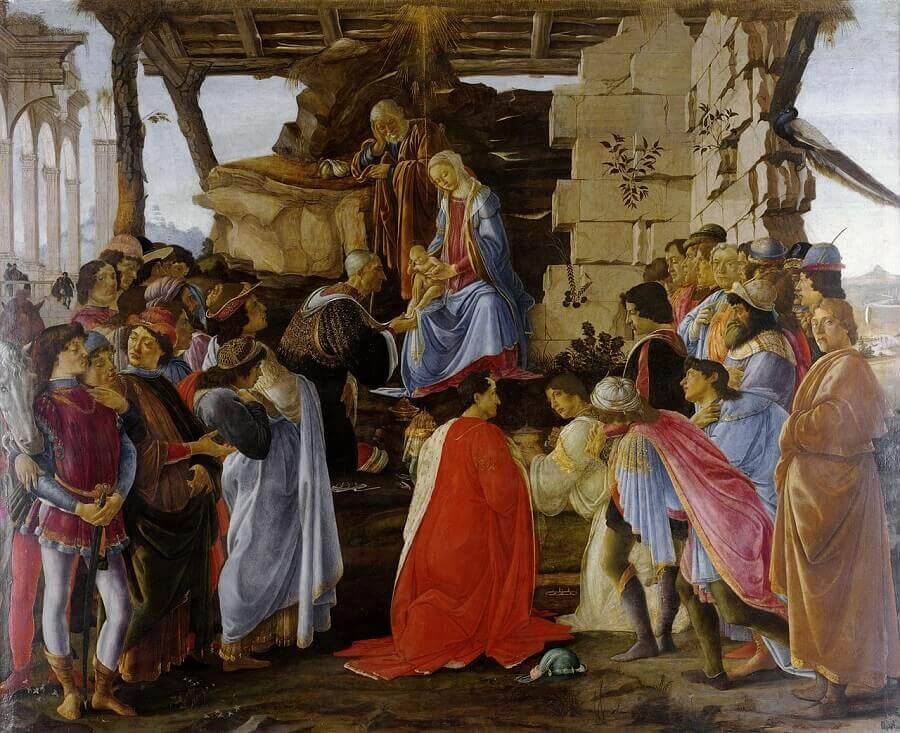 Adoration of the Magi of 1475 by Sandro Botticelli
