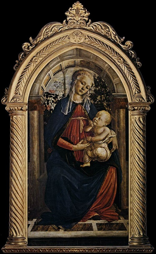 Madonna of the Rose Garden, 1470 by Sandro Botticelli