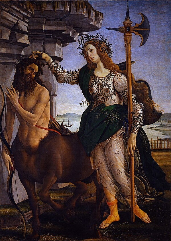 Pallas and the Centaur, 1485 by Sandro Botticelli