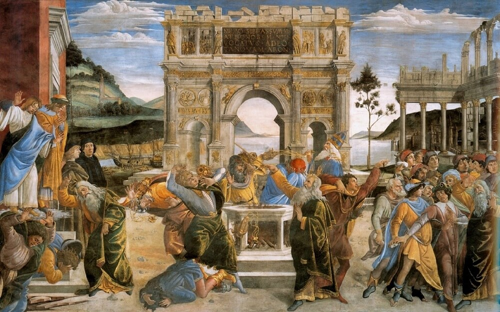 Punishment of the Rebels, by Sandro Botticelli